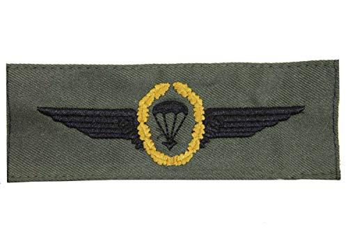 Abzeichen Bundeswehr Fallschirmjäger Gold auf Oliv Aufnäher