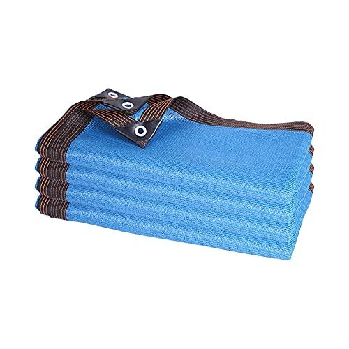 LLCY Blue Block Sombra de Sombra Net Mesh 85% Anti-UV Terraza al Aire Libre Jardín Pérgola Shade Nets Malla de sombreo (Color : Blue, Size : 2x4m)