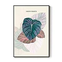 リーフ植物ノルディックミニマリストリビングルーム新鮮な装飾的な絵画デザイナーの壁アート北欧風の装飾 0128 (Color : C, Size : 60×80cm)