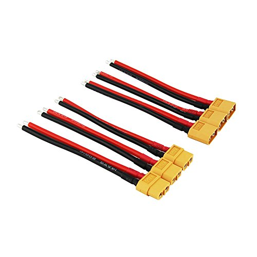 OliYin 3 Paare XT60 Stecker Männlich Weiblich Stecker Kabel Silikon Draht 3,93 in 14awg für RC Lipo Batterie