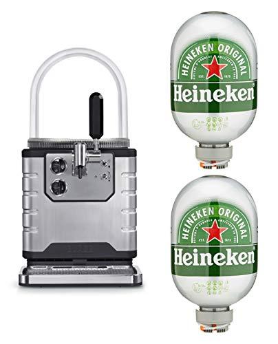 Heineken Bier Zapfanlage Starterpaket mit 2x Helles Bier, 8l Fass