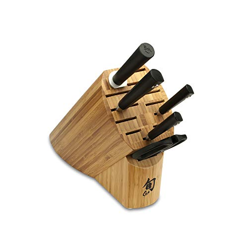 Shun Sora 6-Piece Block Set Including 3.5-Inch Paring Knife,...