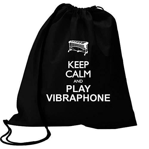 Idakoos Keep Calm and Play Vibraphone - Silhouette Sport Bag