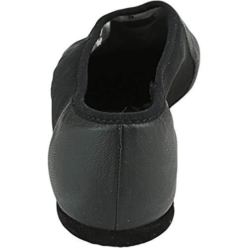 Bloch Dance Women's Neo-Flex Leather and Neoprene Slip On Split Sole Jazz Shoe Black Size: 4