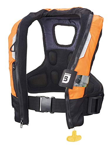 BLUESTORM Arcus 40 Automatic Manual Inflatable PFD Life Jacket for Adults (HD Orange)   US Coast Guard Approved