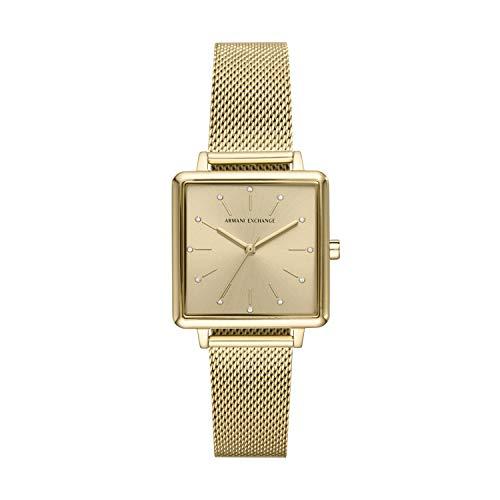 Armani Exchange Damen Analog Quarz Uhr mit Edelstahl Armband AX5801