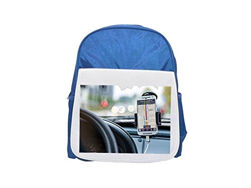 Navegación, coche, unidad, camino, GPS impreso Kid 's azul mochila, para mochilas,...