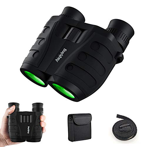 12x25 Compact Pocket Folding Binoculars for Adults Kids, Low Light Vision High Power Lightweight...