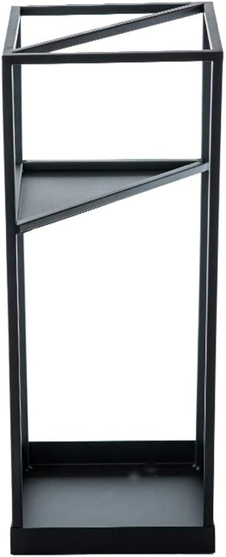 Metal Umbrella Stand, Entryway freestanding Long Umbrella & Short Folding umbrella rack Holder for Indoor Home Office Entryway-Black 20x20x53cm(8x8x21)