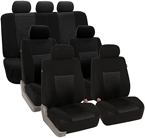 FH GROUP FB060217 Three Row Trendy Elegance Car Seat Covers w 7 Headrests Airbag Compatible product image