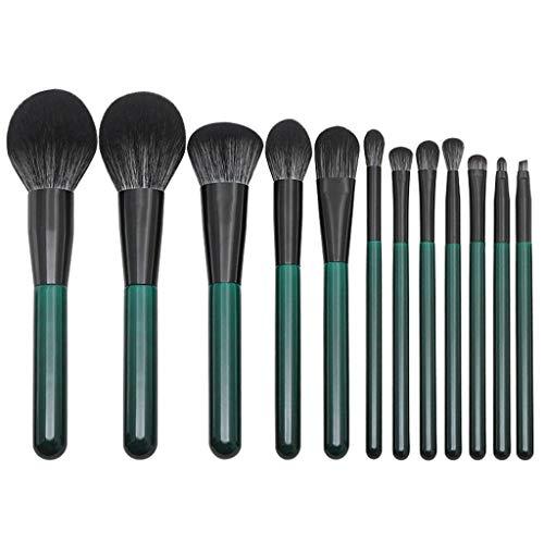 Posional Pinceaux de Maquillage Ensemble, 12PCS Set/Kit Multi Fonctionnel Brillant Premium Coloré Beauté Maquillage Brosse pour Liquides, Crèmes, Eyeliner et Fard à Paupières