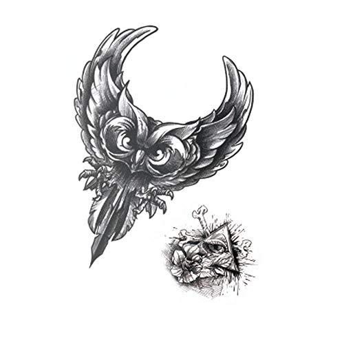 5 Hojas Pegatinas Tatuajes Temporales Para Hombres Mujer Niños Águila/Atrapasueños/Búho, Cuerpo Brazo Pecho Hombro Artes Corporales Negros Pegatinas Impermeable Y Eliminable Vacaciones Carnaval