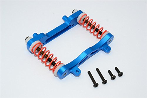 GPM Axial Yeti XL Monster Buggy Upgrade Pièces Aluminium Front Bumper Absorber - 1 Set Blue