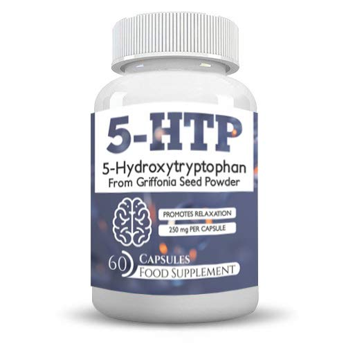 5htp 500mg Daily Serving 60 High Strength Vegetarian Capsules- Best Results