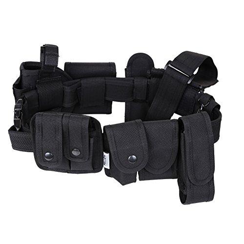 Pellor Outdoor Nylon Esterna Tattico Multifunzionale Paramilitare Attrezzature Cintura Di Sicurezza / Militare Tattico di Cinture Utility Polizia Guardia Security Sistema-nero