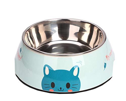 Flairstar Hundenäpfe Edelstahl Fressnapf mit Nicht kleckern Rutschfesten Tablett Mattefür Hunde und Katzen Doppel Schüsseln für Hundefutter und Wasser