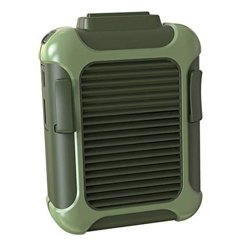 Baoblaze Ventilador Com Clipe De Cintura USB Portátil Pendurado No Pescoço Mini Ventilador De Resfriamento De Ar Para Esportes Ao Ar Livre - Verde