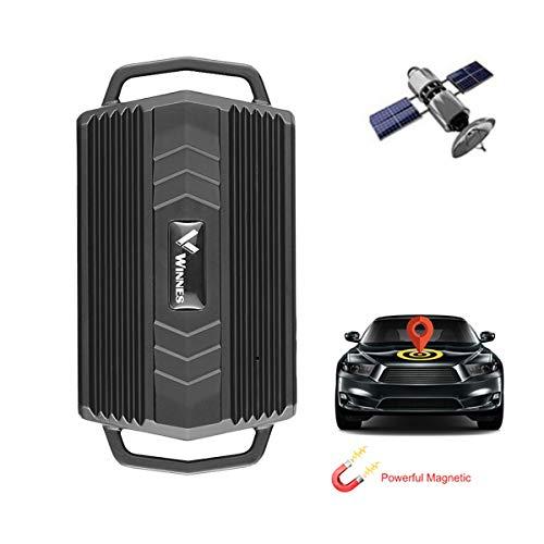 Zeerkeers Starker Magnet GPS Tracker Auto 3000mAh Fahrzeug Tracker Echtzeit Monitoring System, Wasserdicht GPS Locator, Anti Verloren GPS Ortungsgerät mit Kostenlos APP für Smartphone