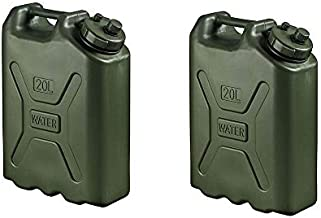 Scepter BPA Durable 5 Gallon Portable Water Storage Container, Green (2 Pack)