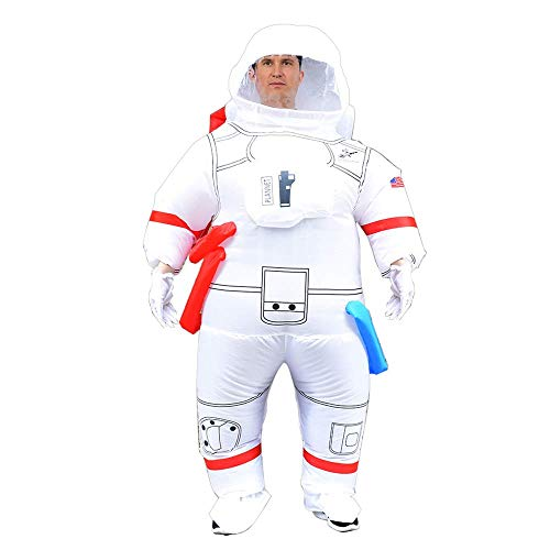 ASENVER Astronaut Inflatable Costume Adults Inflatable Cosplay Suit Blow-up Costume for Halloween Christmas New Year
