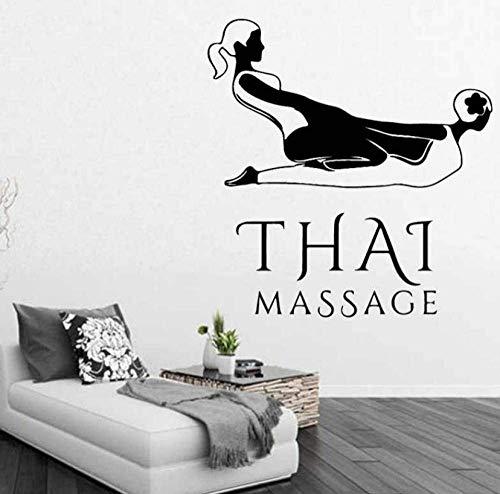 Wandaufkleber Thai Massage Aufkleber Beauty Salon Aufkleber Spa Beauty Poster Vinyl Wandtattoos Dekor Wandbild Beauty Salon Spa Aufkleber 58x61cm