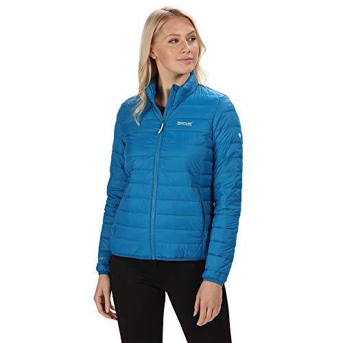 Regatta Womens Whitehill Lightweight Water Repellent Duck Down Fill Compressible Puffa Jacket Chaquetas Acolchadas, Azul petróleo, 46 para Mujer
