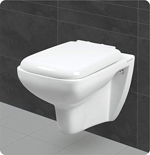 Belmonte Wall Mount/Wall Hung Western Toilet/Commode/Water Closet Cera 55 x 36 x 39 cm (White)
