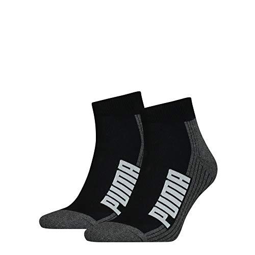 PUMA Unisex Cushioned Quarter Socken 6er Pack (Black/White (001), 39-42)