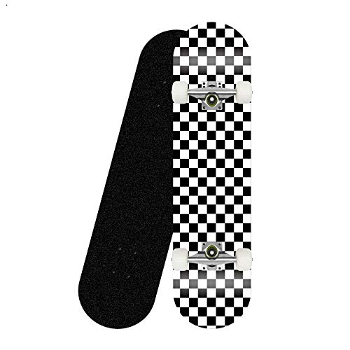 Asdfax Skateboard débutant ABEC-7 Monopatín Completo para niños Adultos, monopatín de Arce de 7 Capas de 31 Pulgadas, Adecuado para Principiantes y Profesionales-re