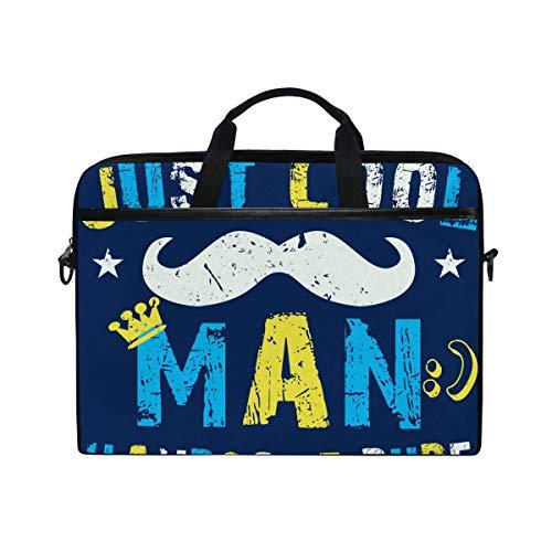 Irud Laptop-Tasche Just Cool Man Handsome Dude Aktentasche Schultertasche Messenger Bag Tablet Business Tragetasche Laptop Sleeve für Damen und Herren (15,4 Zoll)