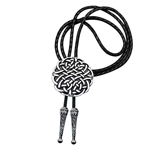 YOQUCOL Keltic Irish Scottish Celtic Cross Celtic Knot Bolo Tie For Men
