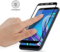 9H Full Cover Tempered Glass Screen Protector for for Asus Zenfone Max Pro M1 ZB556KL ZB555KL ZB601KL glass Film (black color for Asus ZB601KL)