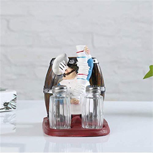 MJDLDV decoratie, hars creatief papier handdoek rek peper zout kan koffie dessert westerse voedsel bakkerij tafel praktische decoratie ornamenten 16x12x17cm