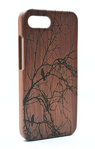 RoseFlower® Holz Schutzhülle für Huawei Honor 10 (14,83 cm (5,84 Zoll) - Palisander Baum Handyhülle - Natürliche Handgemachte Holz Hülle Handytasche Handy Case Cover
