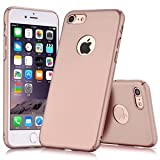 iPhone7 Case Ultra-thin Full Body Coverage Hard Hybrid Plastic with (Tempered Glass Screen Protector) Protective Case Cover & Skin for Apple iPhone7 4.7'' (Pink)