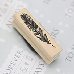 East of India Rubber Craft Design Stamp Feather #3