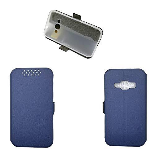 Custodia per Samsung SM-J120F/DS J1 6 / Galaxy J1 2016 SM-J120G/DS SM-J120M/DS SM-J120H/DS SM-J120H/DD SM-J120FN SM-J120ZN SM-J120P SM-J120F / SM-J120A Galaxy Express 3 Custodia Case Cover Blue