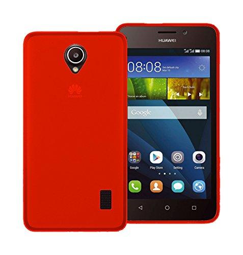 TBOC® Rot Gel TPU Hülle für Huawei Ascend Y635 Ultradünn Flexibel Silikonhülle