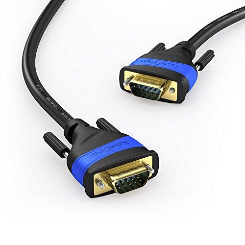 1 m VGA Kabel | 15-polig St. / St. | Full-HD 3D 1080p von KabelDirekt