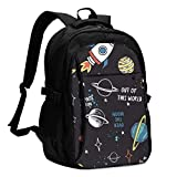 XCNGG Multi-Pocket-Rucksack USB-Rucksack Casual Rucksack Schultasche XCNGGof This World Unisex Travel Laptop Backpack with USB Charging Port School Anti-Theft Bag