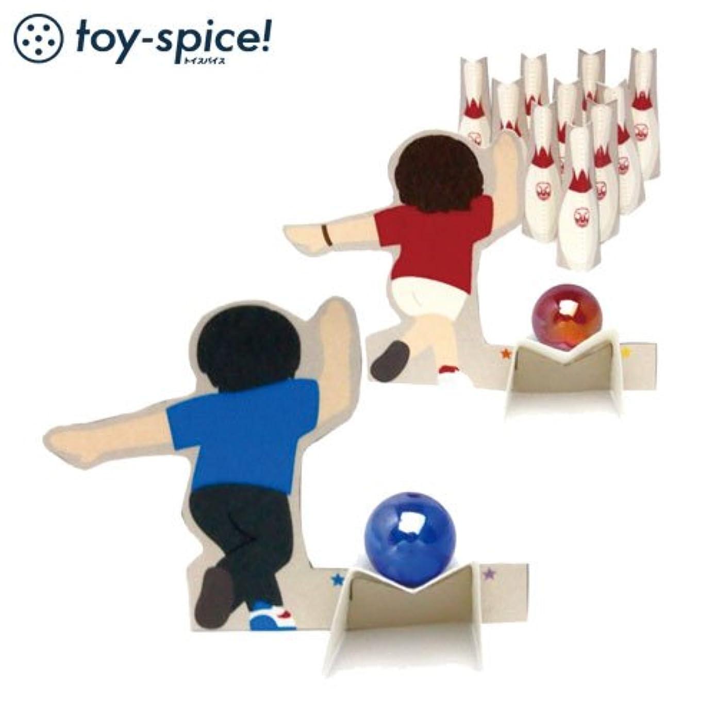クッション広がり賞賛するポストカードTOYボウリングゲーム (009-1)素材付きタイプ紙のおもちゃ工作キットPostcard toy, Paper handmade kit
