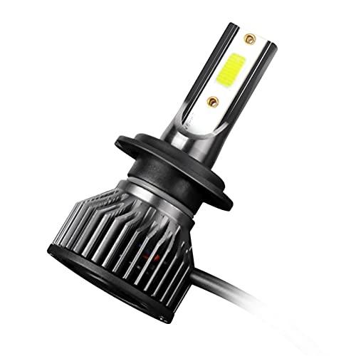 1pc Motorcycle Footlight LED H4 H7 H1 H1 H1 Lámpara Fujas de niebla Bombillas LED Faro de luz delantera para proyectores de motivos Blanco 6000k (Socket Type : H11)