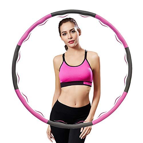 LangKing Hoelahoepbanden die kunnen Worden gebruikt voor gewichtsvermindering en Massage, 6-8 segmenten, afneembare Hoola hoepel, geschikt voor Fitness/Sport/thuis/kantoor/buikvorming, (1,2 kg)