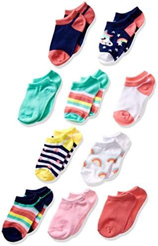 Delia s Girls Big 10 Pack No Show Unicorn Rainbows Fits Sock Size 6 8 5 fits Shoe Size 7 5 3 product image