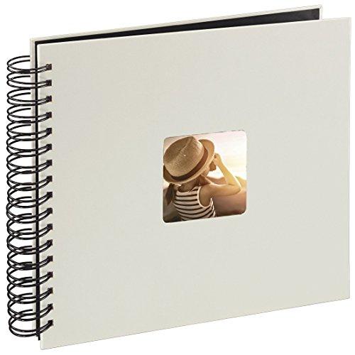 Hama Fine Art Fotos (50 páginas Negras, álbum con Espiral, 28 x 24cm, Compartimento para Insertar Foto), Papel, Tiza