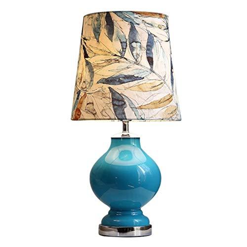 Lámpara Escritorio Lámpara de mesa dormitorio mesita de noche lámpara americana moderna creativa cálida y romántica sala de estar decoración de la casa lámpara de iluminación Lámparas Mesa
