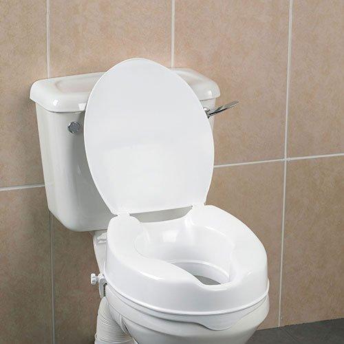 Savanah Raised Toilet Seat with Lid - 2 Inch Health