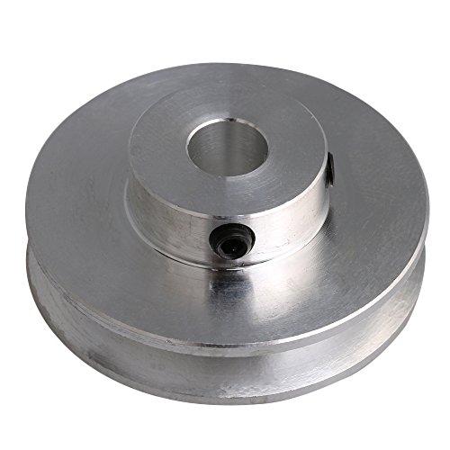 RDEXP Riemenscheibe aus Aluminiumlegierung, V-Form, 41 x 8 mm, für Motorschlitze, 3-5 mm, rund, silberfarben