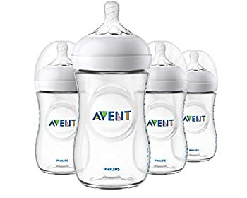 Philips Avent Natural Baby Bottle Clear 9 Ounce 4 Pack SCF013/47