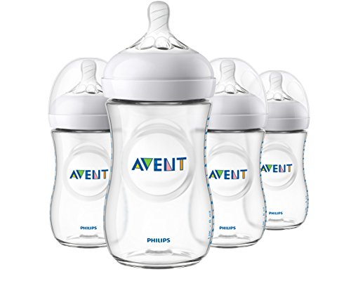 Philips Avent Natural Baby Bottle, Clear, 9 Oz, 4 pack, SCF013/47